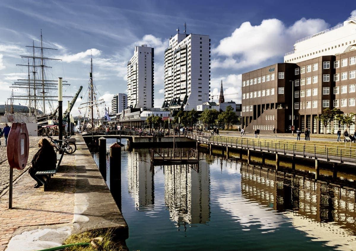 Bremerhaven mit Polfilter aufgenommen als Beispielbild für Filter in der Digitalfotografie